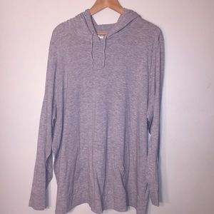 Old Navy Gray 3x light weight hoodie sweater